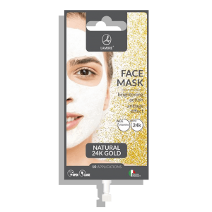 MASCA FACIALA ANTI AGING CU EFECT DE ALBIRE SI REVITALIZARE CU EXTRACT NATURAL DE AUR 24K 15ML FACE MASK 24kGOLD